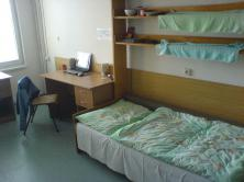 My dormitory room in block E which is the best of blocks
