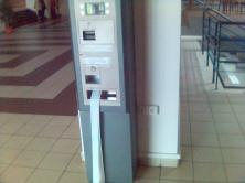 Bugged machine for payments in university canteen