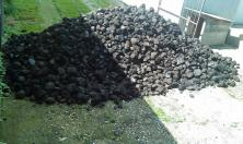 Coal that needed to be moved to storage