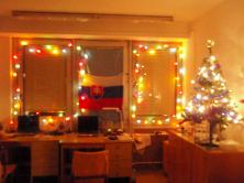 Decorated dorm room of my schoolmate
