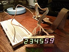 DIY Digital clock with AVR ATmega8 (6)